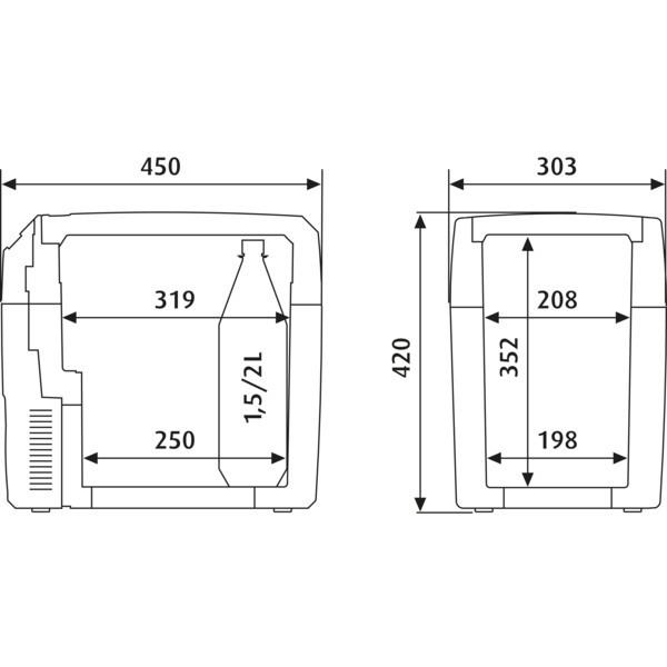 Frigorifero portatile dometic tropicool tcx 21 dometic for Temperatura frigo da 1 a 7